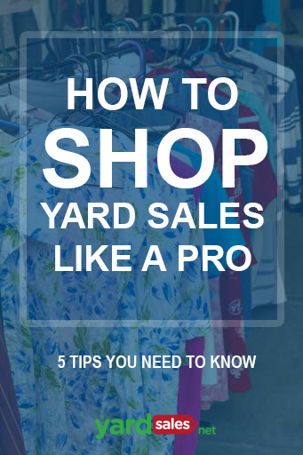 How to shop Yard Sales like a Pro: 5 Tips you need to know