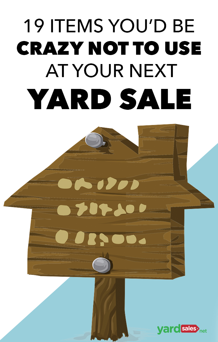 19 supplies you'd be crazy not to use at your next yard sale
