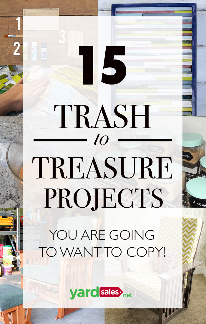 15 Trash to Treasure Projects You're Going to Want to Copy!