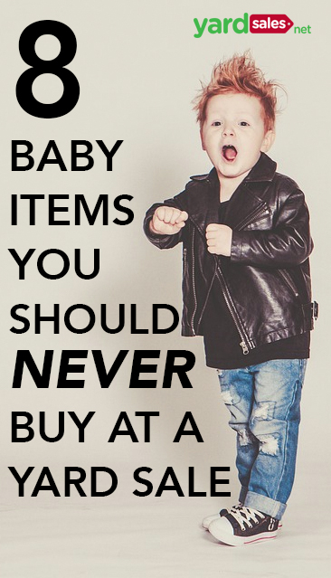 8 Used Baby Items you Want to Avoid Buying at a Yard Sale