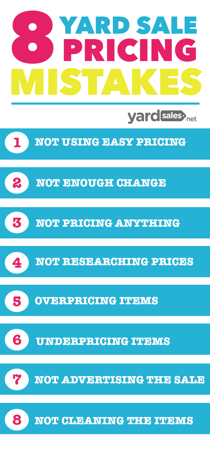 8 Yard Sale Pricing Mistakes That Most People Make, But You Should Avoid!