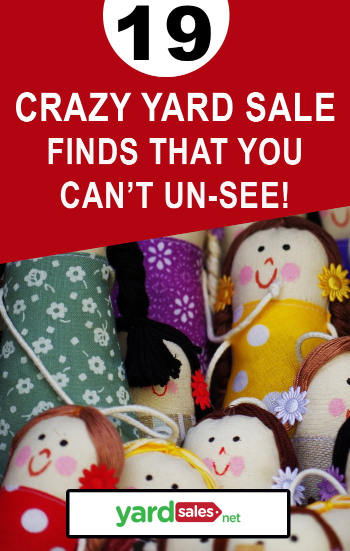 19 Crazy Yard Sale Finds You Won't Be Able to Un-see!